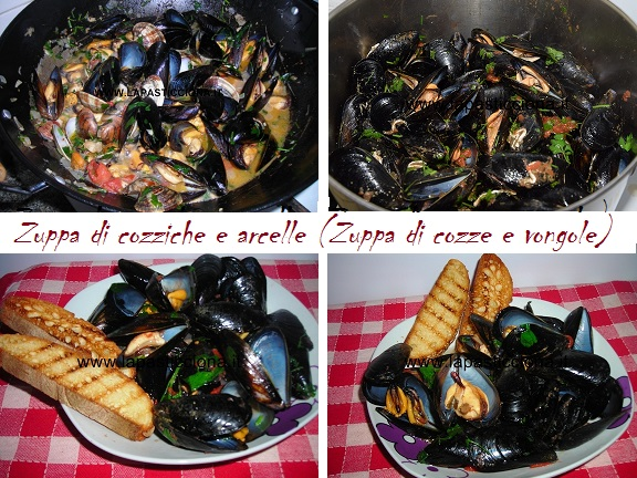 Zuppa di cozziche e arcelle (Zuppa di cozze e vongole)