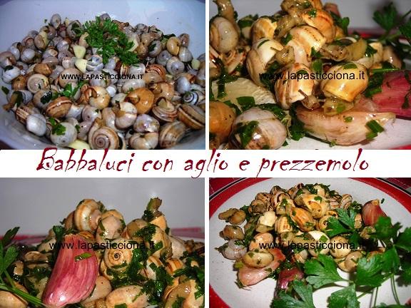 Babbaluci con aglio e prezzemolo