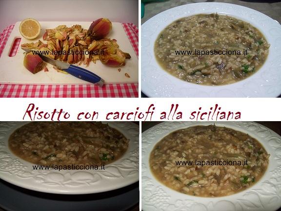 Risotto con carciofi alla siciliana 2