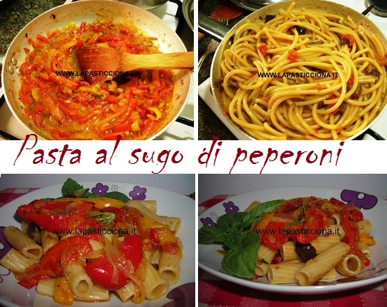 Pasta al sugo di peperoni 8