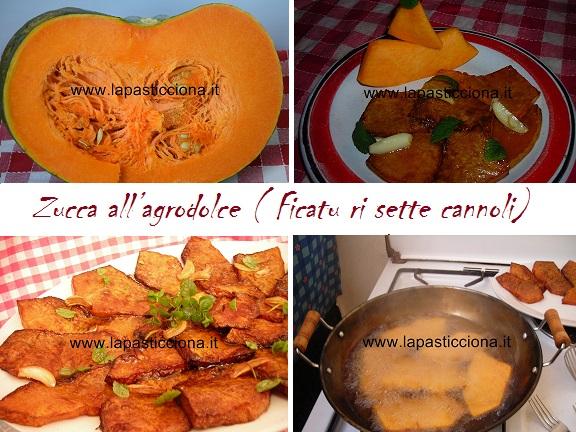 Zucca all'agrodolce ( Ficatu ri sette cannoli) 8