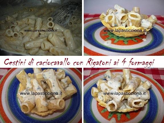 Cestini di caciocavallo con Rigatoni ai 4 formaggi 8