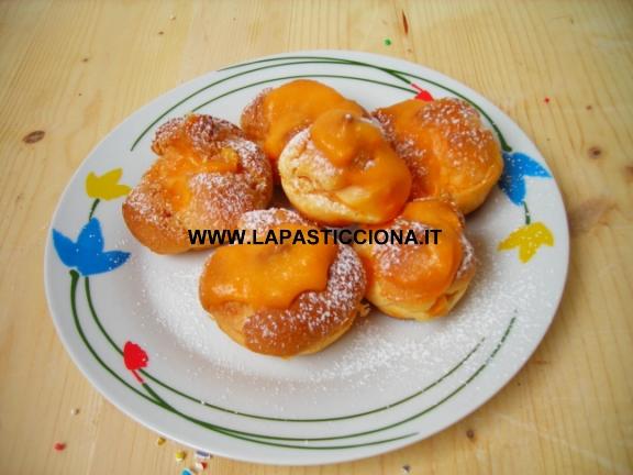 Bignè con crema all'arancia di Sicilia 7