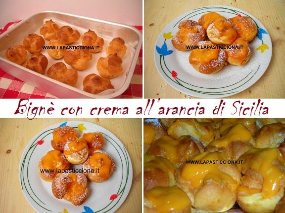 Bignè con crema all'arancia di Sicilia 8