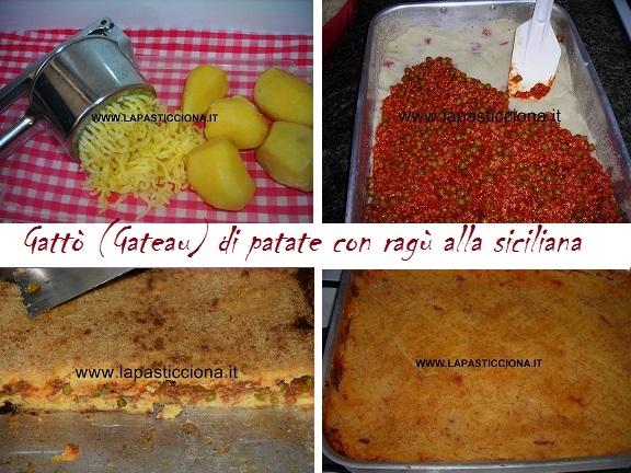 Gattò (Gateau) di patate con ragù alla siciliana 8