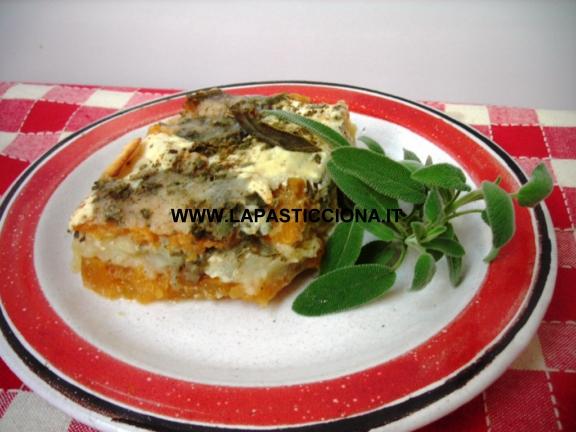 Parmigiana di zucca rossa e patate 5
