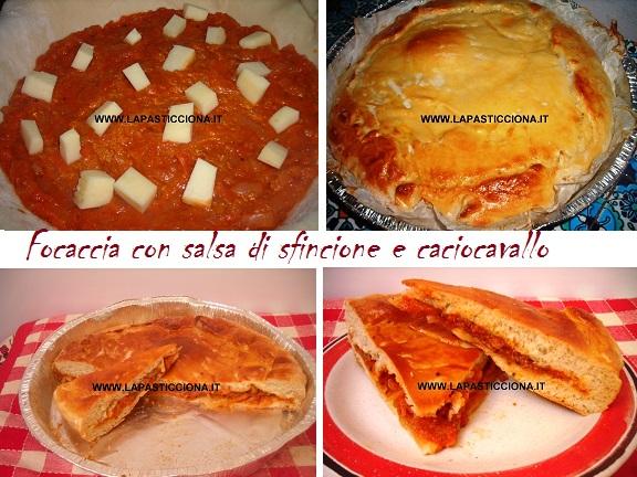 Focaccia con salsa di sfincione e caciocavallo 6
