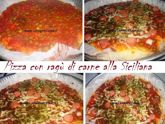 Pizza con ragù di carne alla Siciliana