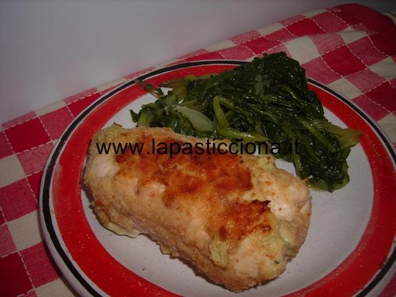 Rotoli di pollo con spinaci e scamorza affumicata