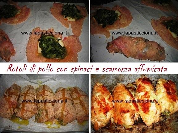Rotoli di pollo con spinaci e scamorza affumicata 8