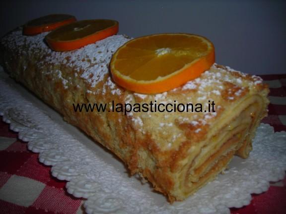 Rotolo con crema all'arancia 7