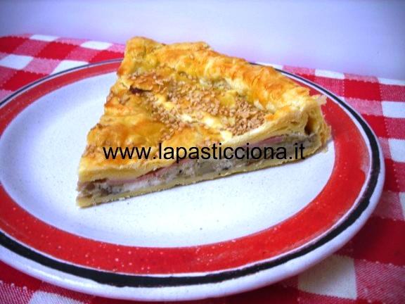 Torta di pasta sfoglia con carciofi ricotta e prosciutto  6