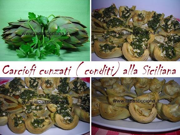 Carciofi cunzati ( conditi) alla Siciliana 8
