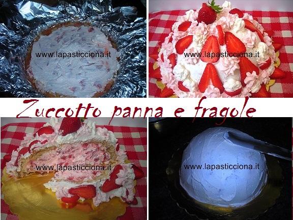 Zuccotto panna e fragole 9