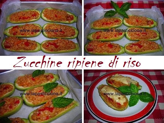 Zucchine ripiene di riso 8