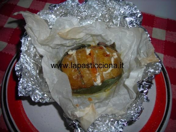 Patate al cartoccio con gorgonzola piccante e salvia 5