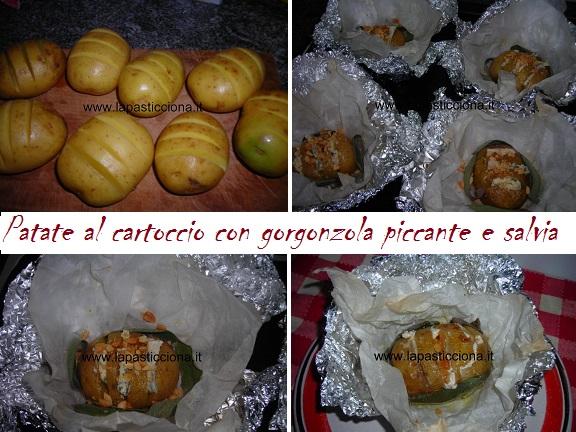 Patate al cartoccio con gorgonzola piccante e salvia