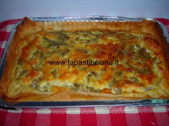 Torta salata con carciofi 2
