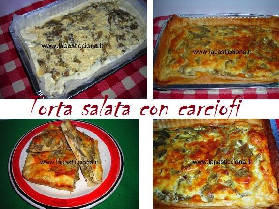 Torta salata con carciofi 8
