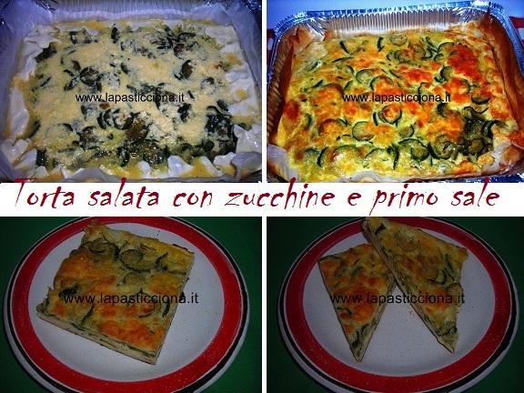 Torta salata con zucchine e primo sale 8
