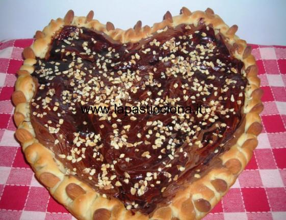 Dolce cuore di pizza alla Nutella 5
