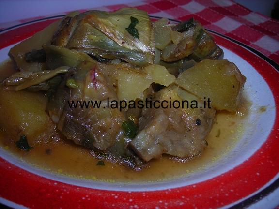 Carciofi e patate a spezzatino