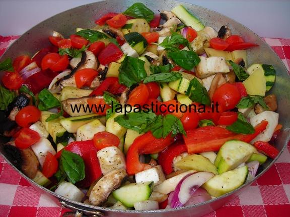 Misto di ortaggi al forno