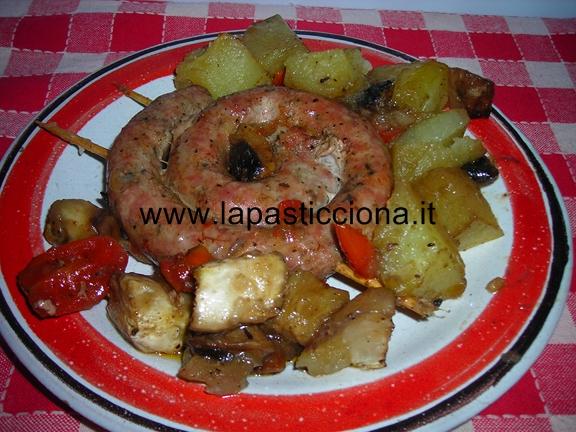 Salsiccia con verdure al forno 5