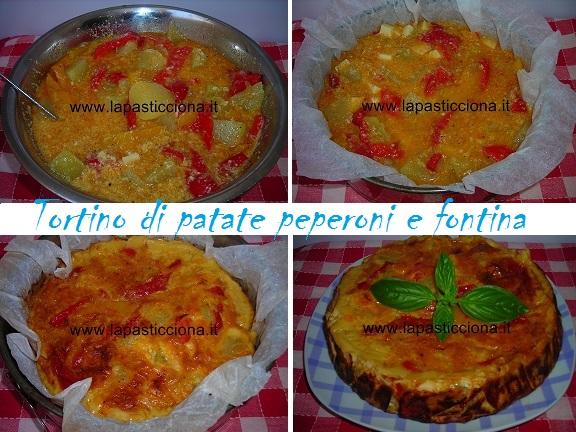 Tortino di patate peperoni e fontina