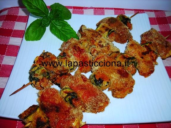 Spiedini di verdure al forno