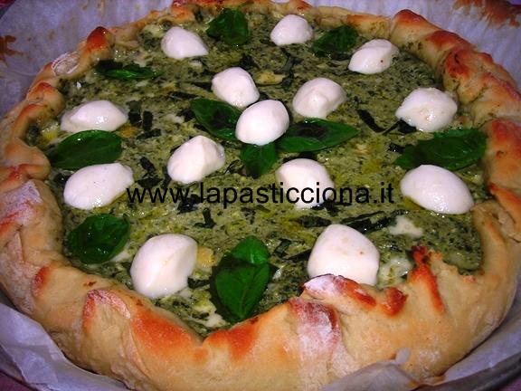 Pizza ricotta e pesto