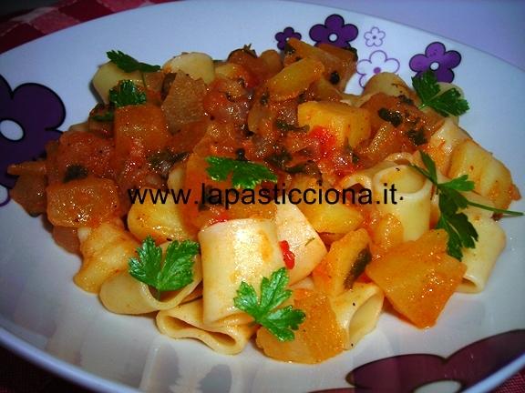 Pasta chi patati (con le patate) 7