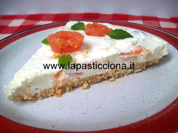 Torta di formaggio al salmone (Cheesecake)