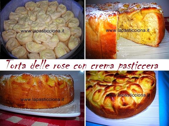 Torta delle rose con crema pasticcera 9