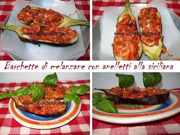 Barchette di melanzane con anelletti alla siciliana 8