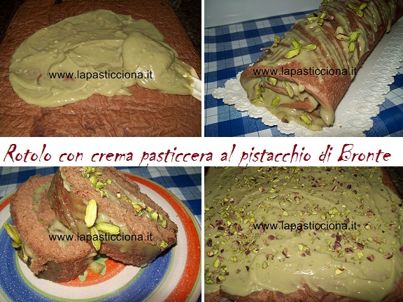 Rotolo con crema pasticcera al pistacchio di Bronte 8