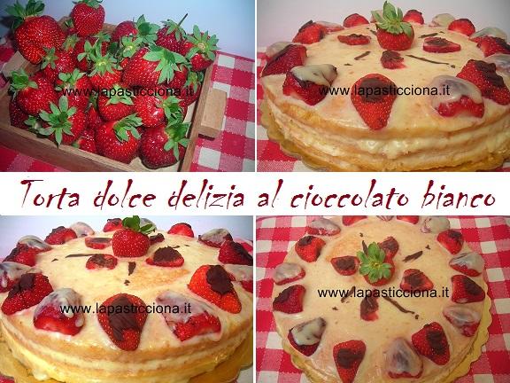 Torta dolce delizia al cioccolato bianco 8