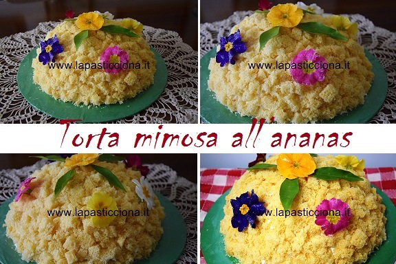 torta mimosa all'ananas 8