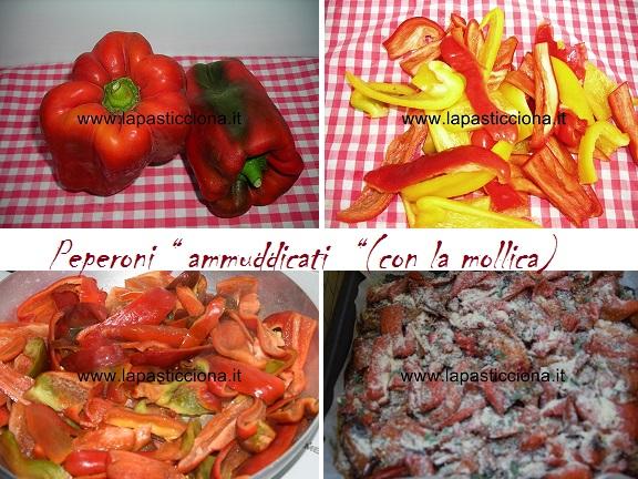 """Peperoni """" ammuddicati  """"(con la mollica)"""