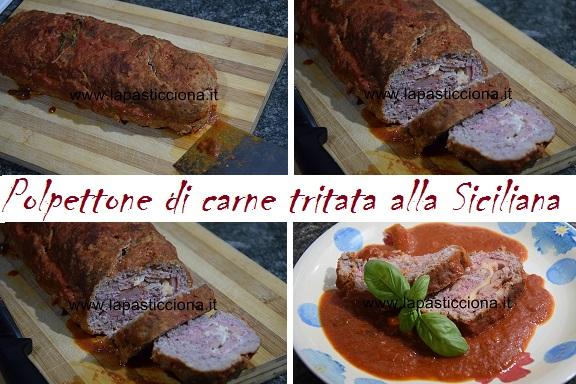 Polpettone di carne tritata alla Siciliana 2