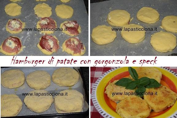 Hamburger di patate con gorgonzola e speck 2