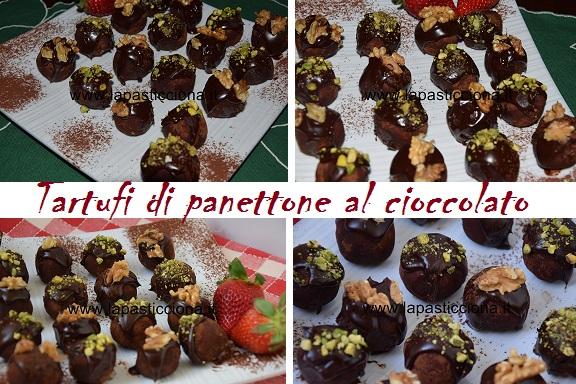Tartufi di panettone al cioccolato 2