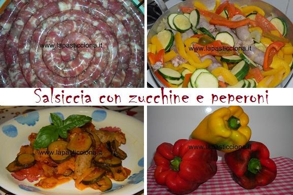 Salsiccia con zucchine e peperoni