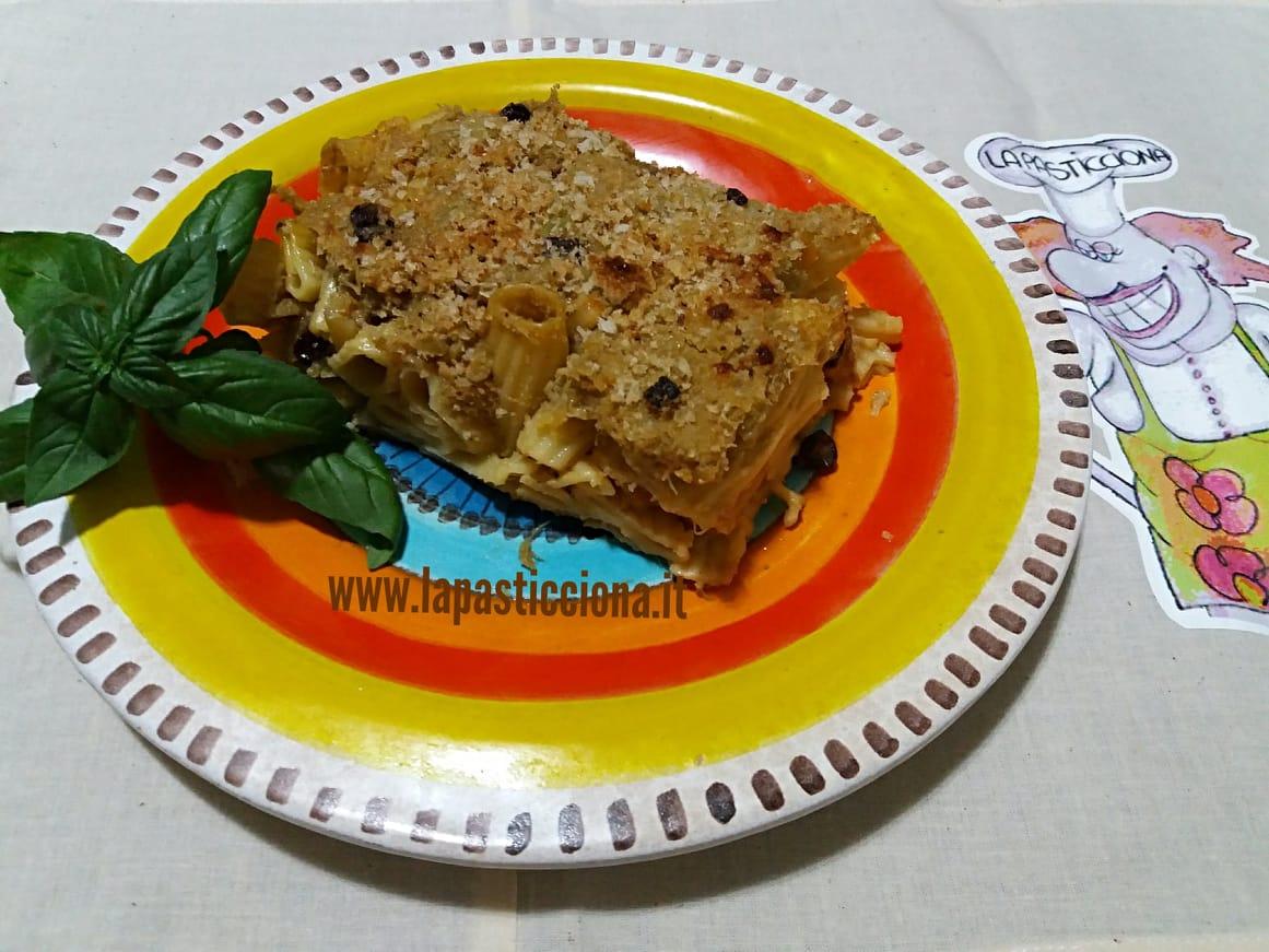 Pasta con broccoli arriminati al forno