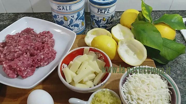 Limoni farciti con carne tritata