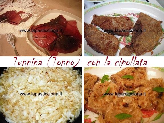 Tunnina (Tonno) con la cipollata