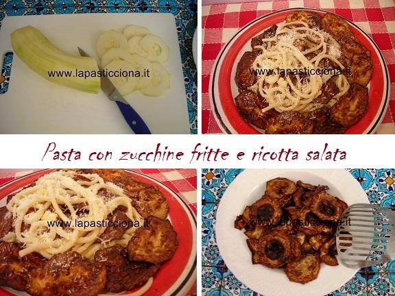 Pasta con zucchine fritte e ricotta salata 8