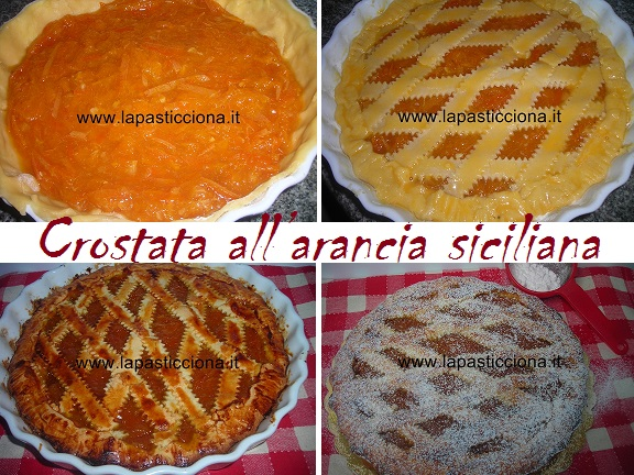Crostata all'arancia siciliana