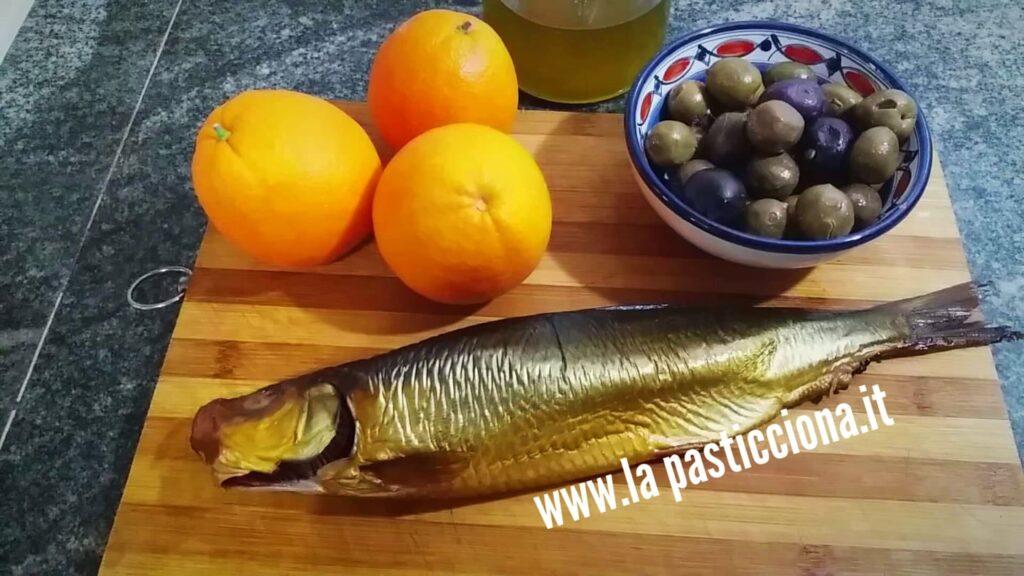 Insalata di arance, olive e aringhe