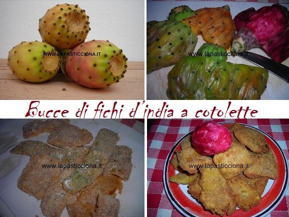 Bucce di fichi d'india a cotolette